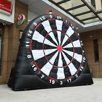 4 Meter 3 Balls Inflatable Dart Board Throwing Soccer Darts Sport Carnival Sport Games, Giant Football Inflatable Dart Board New