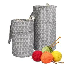 Sturdy Lightweight Yarn Storage Tote Canvas Crocheting Supplies Organizer Holder Large Capacity Durable High Quality New