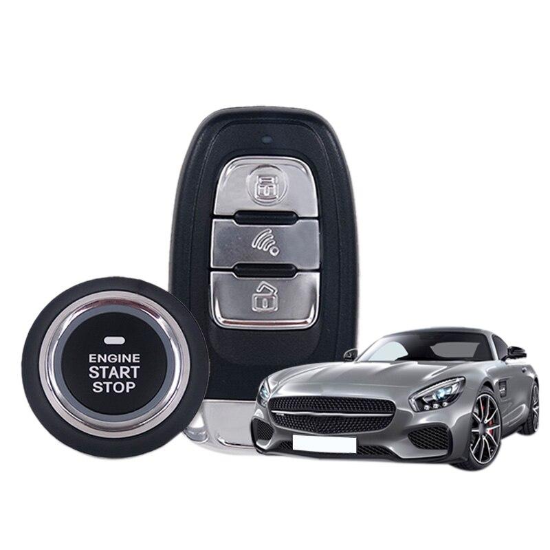 Système d'alarme de démarrage de moteur d'entrée sans clé de voiture Suv bouton poussoir arrêt de démarreur à distance système d'alarme de voiture automatique St888