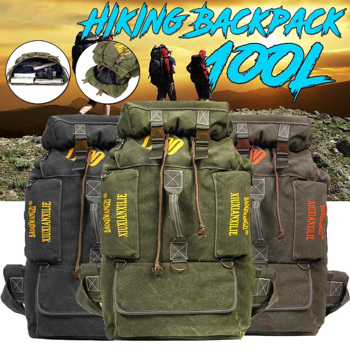 60/90/100L WaterProof Oxford Travel Bag Large Capacity Journey Backpack Outdoor Camping Sports Bag Climbing Hiking Backpacks Bag