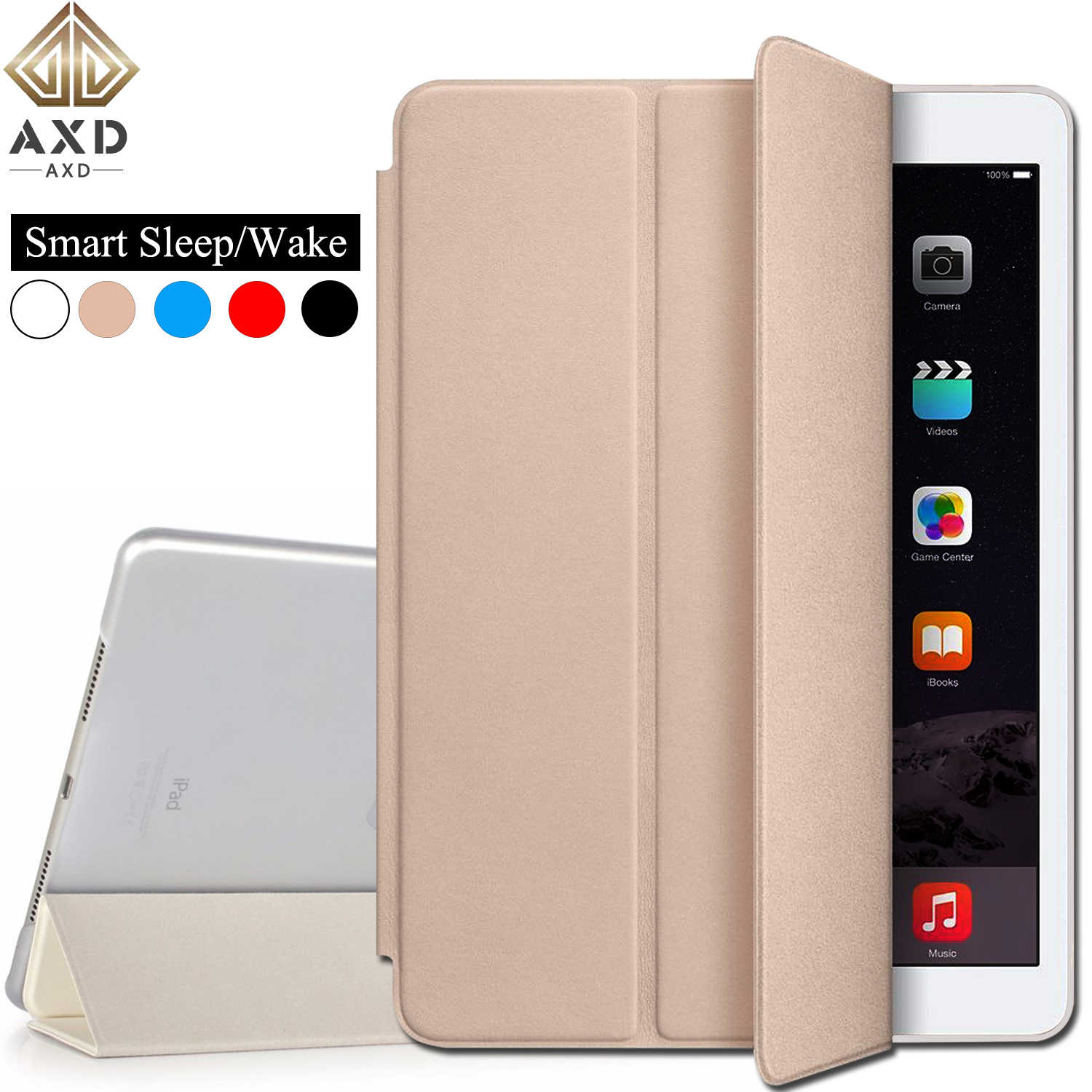 AXD Flip leather case for Huawei MediaPad T3 10 9.6-inch fundas smart sleep Wake cover Stand capa For AGS-W09/L09/L03 LTE wifi