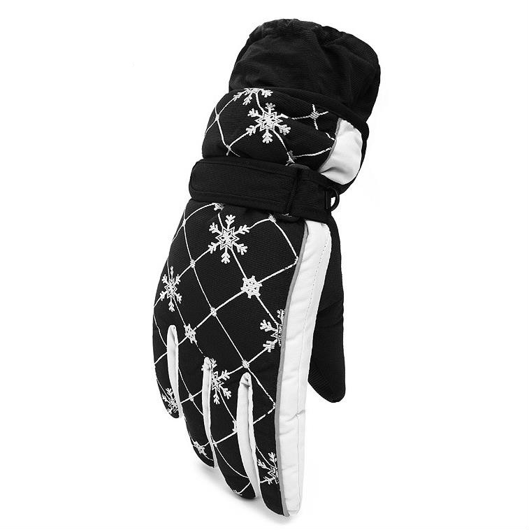 Luvas de Esqui de Inverno para Mulheres à Prova Água à Prova de Vento Quente ao ar Luvas de Equitação Anti Flanela Espessamento Livre Montanhismo d' Sli