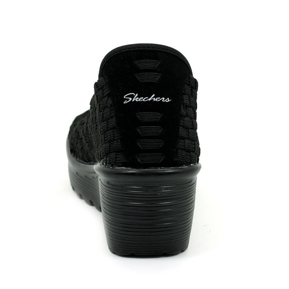 Sandalias Mujer Skechers 38522 Piel Wrwe5pq Cuña Negro Marrón E9IbeHWD2Y