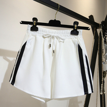 2019 Pajama Pants For Woman Loose Summer Sleep Bottoms Steipe Shorts Elastic Waist Plus Size Lounge Female