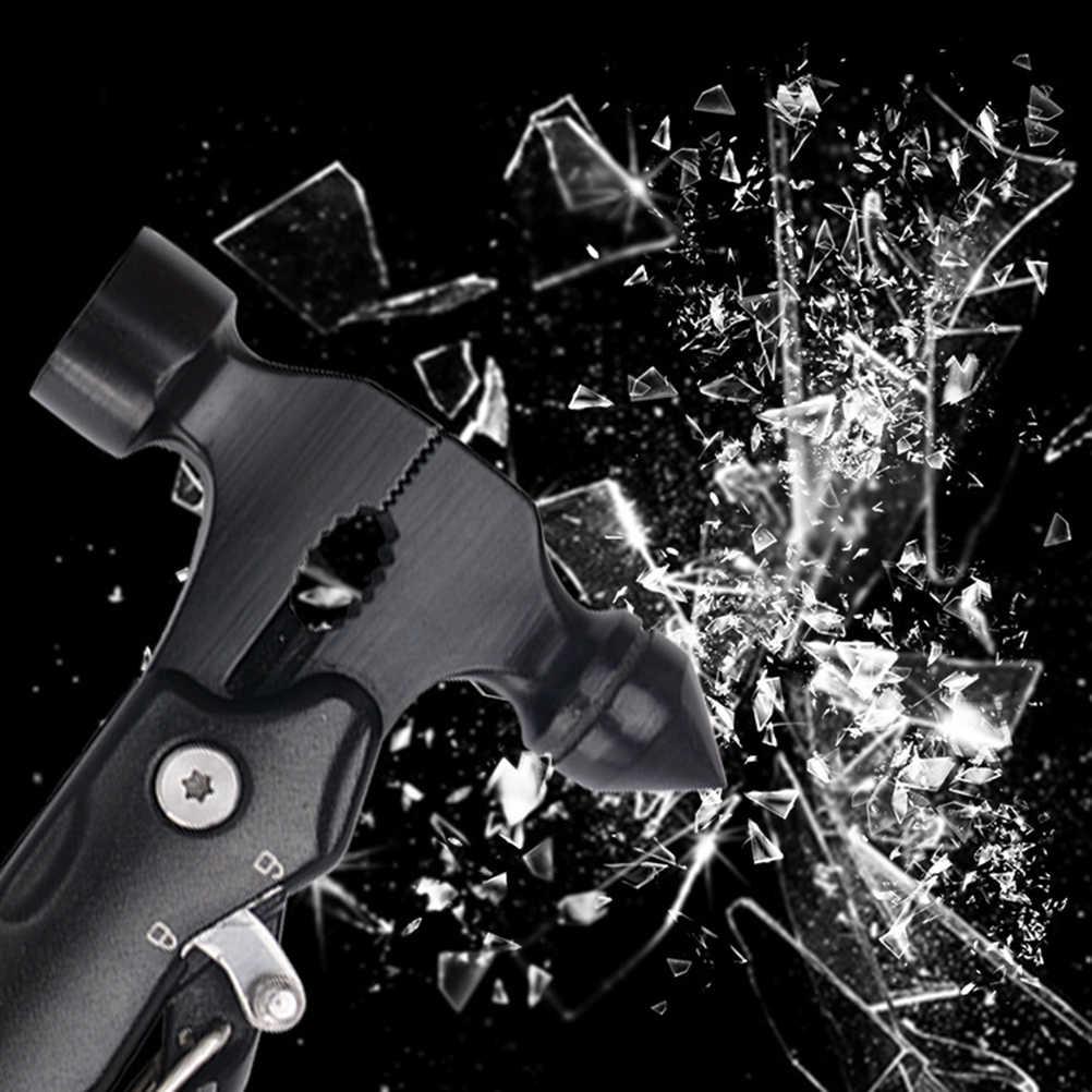 Портативный многофункциональный инструмент для автомобиля спасательный Молот кемпинговый походный инструмент молоток (черный)