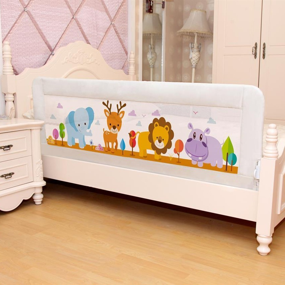 4 Colors Baby Beds Fence Home Child Safety Care Barrier Guardrail Crib Beds Rail Kid Safe