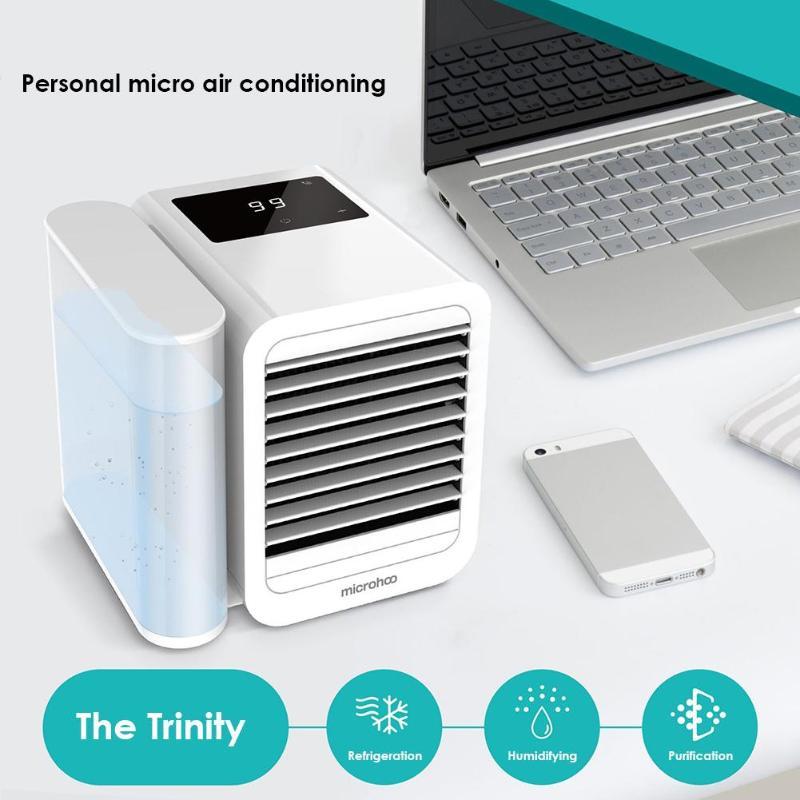 USB Mini climatiseur refroidisseur humidificateur purificateur bureau Air refroidissement ventilateur 1000ml réservoir d'eau Air refroidissement ventilateur pour bureau à domicile