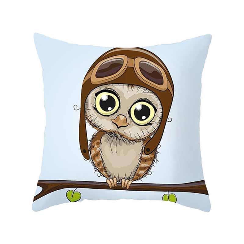 Yastık örtüsü yatak güzel yastık kılıfı yüksek kaliteli karikatür popüler baykuş baskılı 45cm x 45cm ev gerekli sıcak satış 1 adet