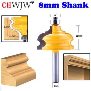 Image 1 - 1 PC 8mm Shank Cổ Điển & Bead Đúc & Edging Router Bit Tenon Cutter cho Chế Biến Gỗ Công Cụ  CHWJW 16127_8