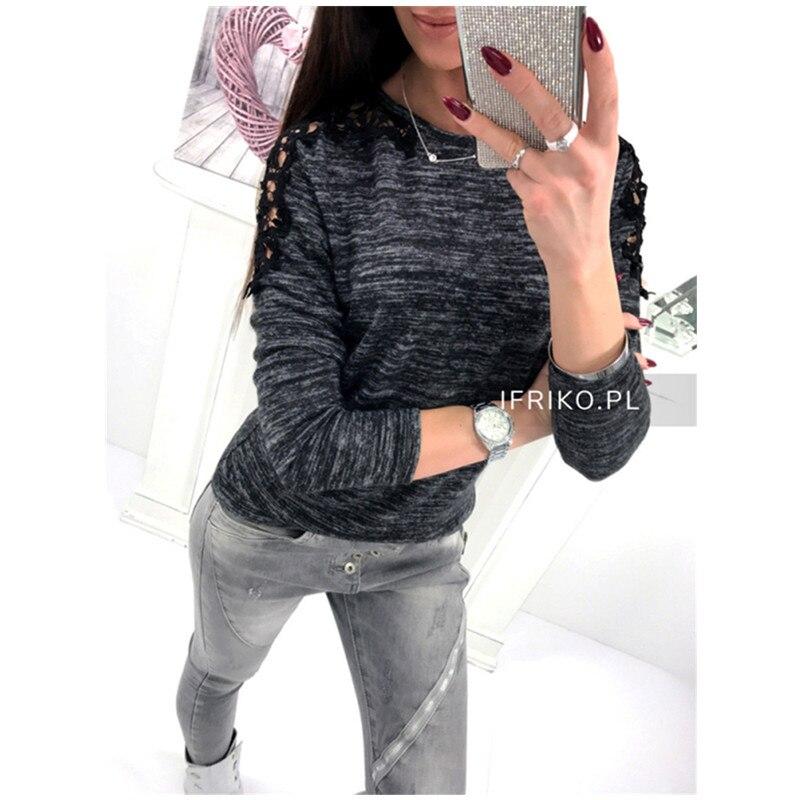 Women Fashion  Spring Loose Casual Long Sleeve T-Shirt Ladies Cotton Tops T-Shirt