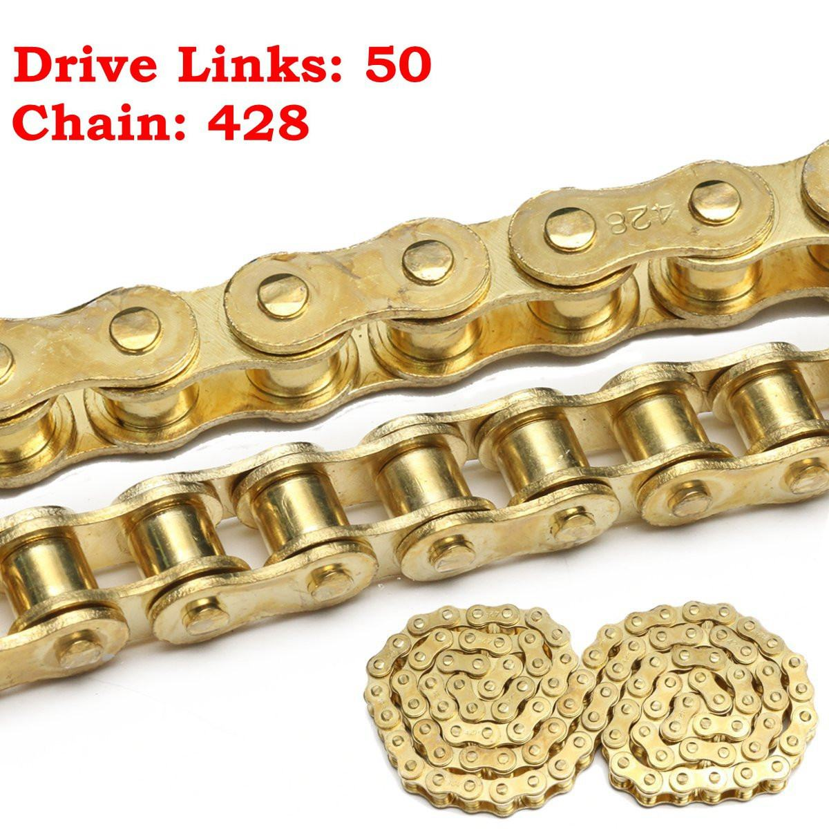 Apprehensive Gold 50 Link 428 Drive Chain For 50cc 110cc 125cc 140cc Pit Dirt Bike Pitbike Quad Atv High Standard In Quality And Hygiene Back To Search Resultsautomobiles & Motorcycles