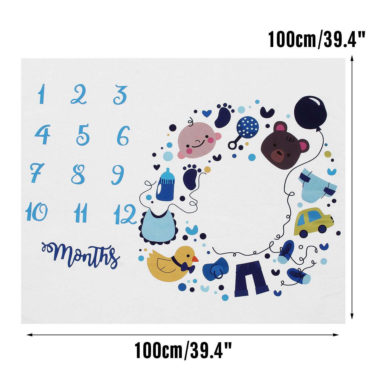 Mother & Kids Newborn Baby Monthly Growth Blanket Photography Props Background Cloth Commemorate Rug Blanket Kids Shooting Last Style Baby Gyms & Playmats