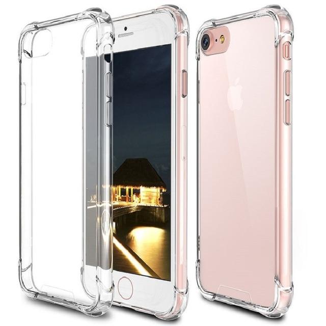PTM Роскошные противоударный мягкий прозрачный силиконовый чехол для iPhone X XS XR XS Max 8 7 6 6 S плюс прозрачная Защита задняя крышка