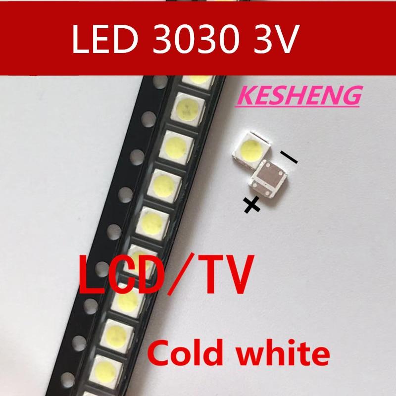 Lextar 200 pces/diodo emissor de luz luz de fundo 1 w 3030 3 v branco fresco 80-90lm tv aplicação