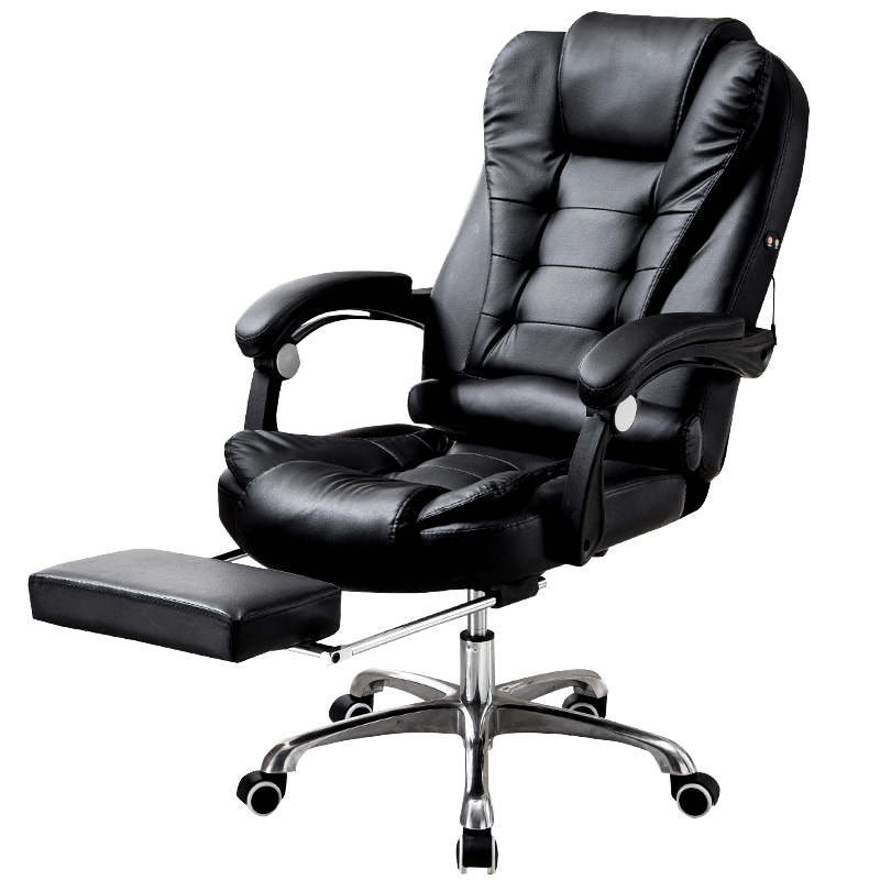 Hick Lift Rotation Massage Chair Modern Simple Office Boss Chair Backrest Adjustable with Footrest Comfortable Computer ChairHick Lift Rotation Massage Chair Modern Simple Office Boss Chair Backrest Adjustable with Footrest Comfortable Computer Chair