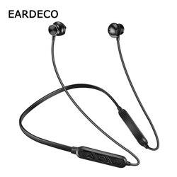 EARDECO słuchawki bezprzewodowe IPX5 słuchawki Bluetooth słuchawki Stereo Sport słuchawki bezprzewodowe zestaw słuchawkowy z mikrofonem Bass na telefon