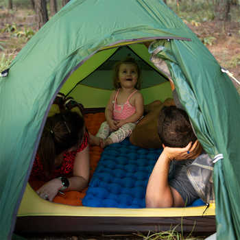 Naturehike Nylon TPU Camping Mat Sleeping Pad Lightweight Moistureproof Air Mattress Portable Inflatable Mattress NH19Z012-P