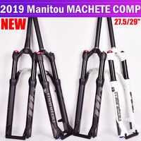 Horquilla Manitou para bicicleta Machete MAG Marvel 27,5 29er horquillas de aire de tamaño montaña MTB bicicleta Suspensión de horquilla de aceite y Gas SR SUNTOUR
