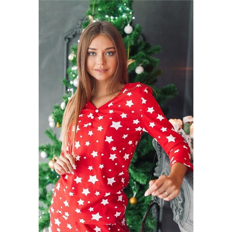 Cardigan female KAFTAN Christmas red, p-p 48-50, 100% CHL t shirt women kaftan christmas size red p p 52