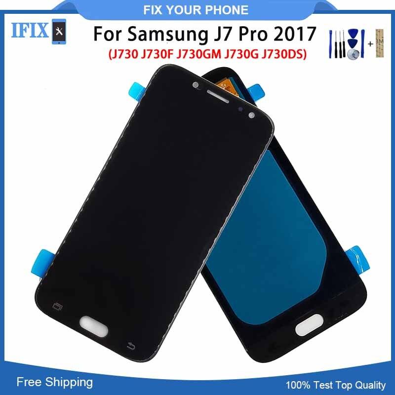 OLED LCD pour Samsung J7 Pro 2017 J730 J730F J730GM J730G J730DS OLED LCD écran tactile numériseur assemblée J7Pro AMOLED