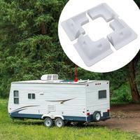4pcs/set Solar Panel Stand White Corner Mounting Bracket for RV Marine Flat Roof Camping Van and Caravan 2019