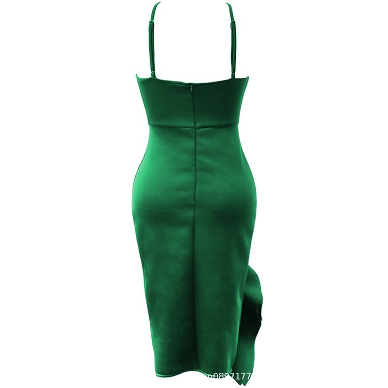 Blue Sexy Party Dress Summer 2019 Fashion Women Plus Size Strap Midi Dress Ruffle Ladies Backless Pencil Dress Women 3XL 4XL 5XL in Dresses from Women 39 s Clothing