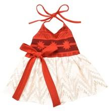 AmzBarley Baby Girls Summer Moana Dress Kids Beach Sundress Toddldr Chidren Strap Backless Princess Halloween Cosplay Costume