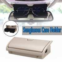 1Pc Beige Sun Glasses Box Organizer Storage Cases Holder New For BMW X5 X6 F15 F16 2014 2017 Car Storage Pockets Car styling