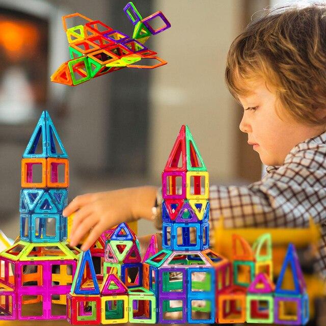 Vavis Tovey Models Mini Magnetic piece Educational Construction Set Castle amp Robot Toy ABS Magnet Designer
