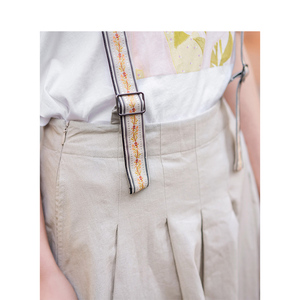 Image 4 - INMAN الصيف عالية الخصر ضئيلة الرجعية الكورية نمط طالب الموضة كل مطابقة ألف خط النساء حزام تنورة