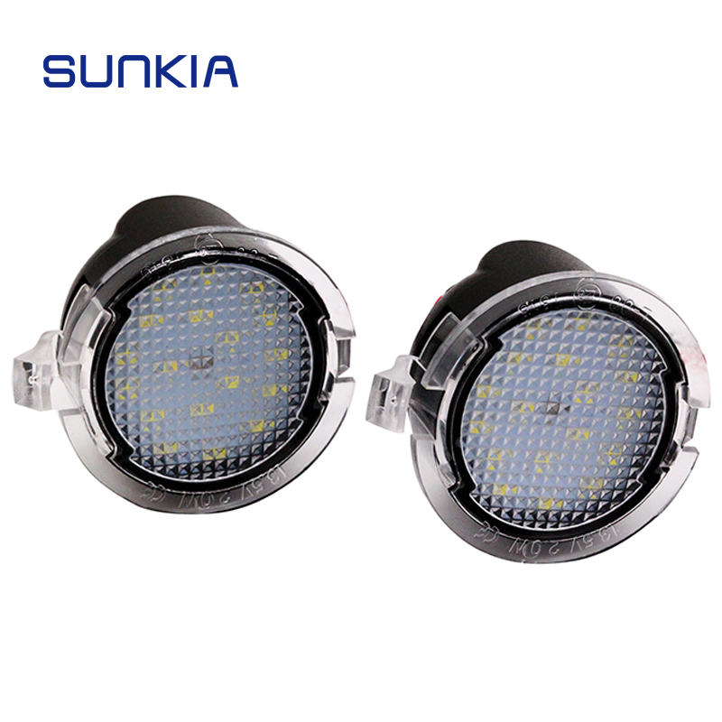 SUNKIA 2pcs/lot High Power 18 SMD for <font><b>Ford</b></font> Mondeo MK5/F150 Pickup Heritage/Mustang/<font><b>Explorer</b></font>/Edge LED Side <font><b>Mirror</b></font> Pudlle Lights image