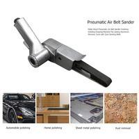 Metal Wood Pneumatic Air Belt Sander Polishing Grinding Drawing Machine Aluminum Abrasive Tools with 2pcs Sanding Belts