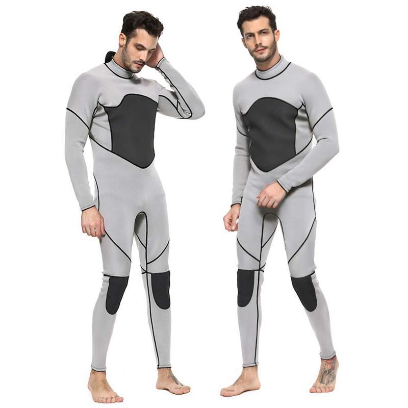 Combinaison de plongée mâle 3 MM une pièce épaissie chaude à manches longues combinaison d'hiver pour Sports de plein air plongée en apnée natation pataugeoire