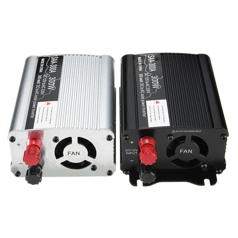 300 W de Potência Do Inversor 12 V para 220 Volts AC Transformador Conversor de Carga USB Modificado Sine Wave Car LCD Digital