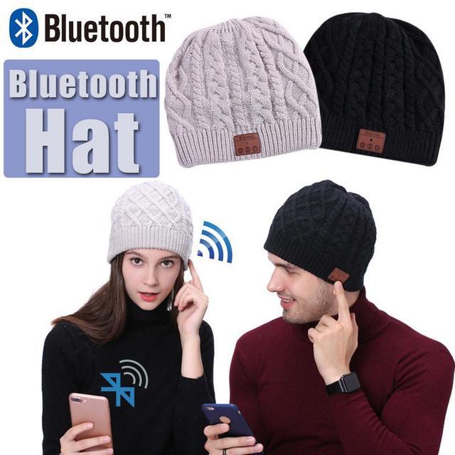 Wireless Bluetooth Hat Headphones Call Music Stereo Lining Plus Velvet Bluetooth Knitted Cap Winter Warm Sports Wool Cap