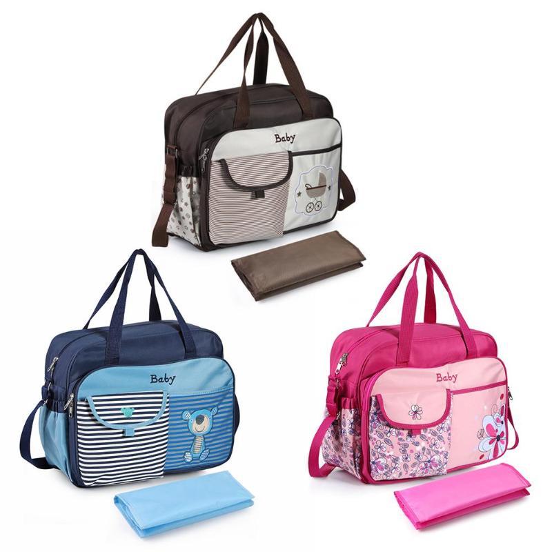 Mother Diaper Shoulder Bags Multifunctional Waterproof  Maternity Mummy Nappy Bags Flower Style Mom Handbag Baby Stroller Bag