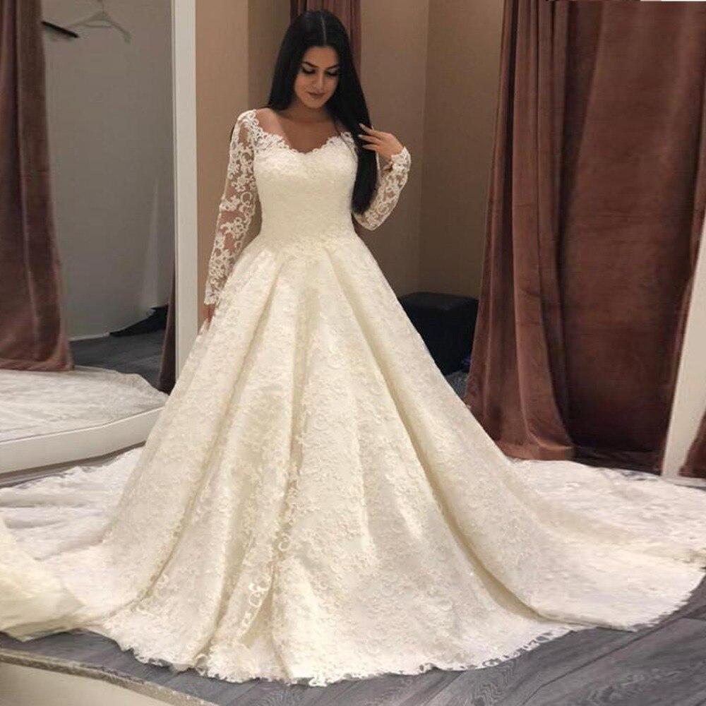 Musulman Blanc Femme Tenue Robes Manches Mariée Beige De Parti Dentelle Puffy Nightelegant 2019 Mariage Pleine Sexy Fête ZTXiOukwP