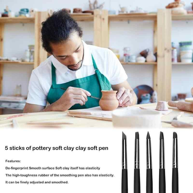 5Pcs Polymer Clay Carving Pen Borstel Aardewerk Klei Keramiek Tool Diy Klei Ambachten Gesneden Tool