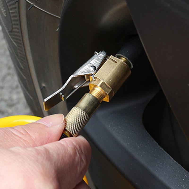 1PC voiture Auto laiton 8mm pneu roue pneu Air mandrin gonfleur pompe vanne pince connecteur adaptateur voiture accessoires pour compresseur