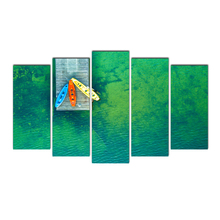Cairnsi Canvas Painting Wall Art Frame Printed Pictures 5 Panel Poster Green sea&Kayak Photo For Living Room Decor Free delivery