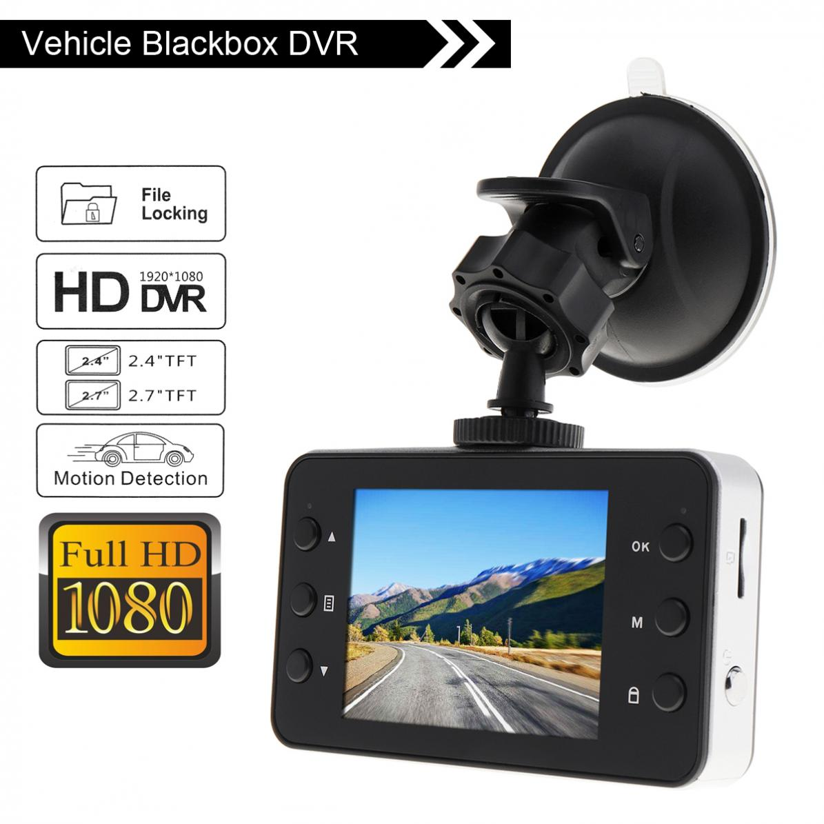 Universal 2.4 Inch 1280 x 720 1080P HD Night Vision Car DVR Camera Video Recorder Dash Cam G-sensorUniversal 2.4 Inch 1280 x 720 1080P HD Night Vision Car DVR Camera Video Recorder Dash Cam G-sensor
