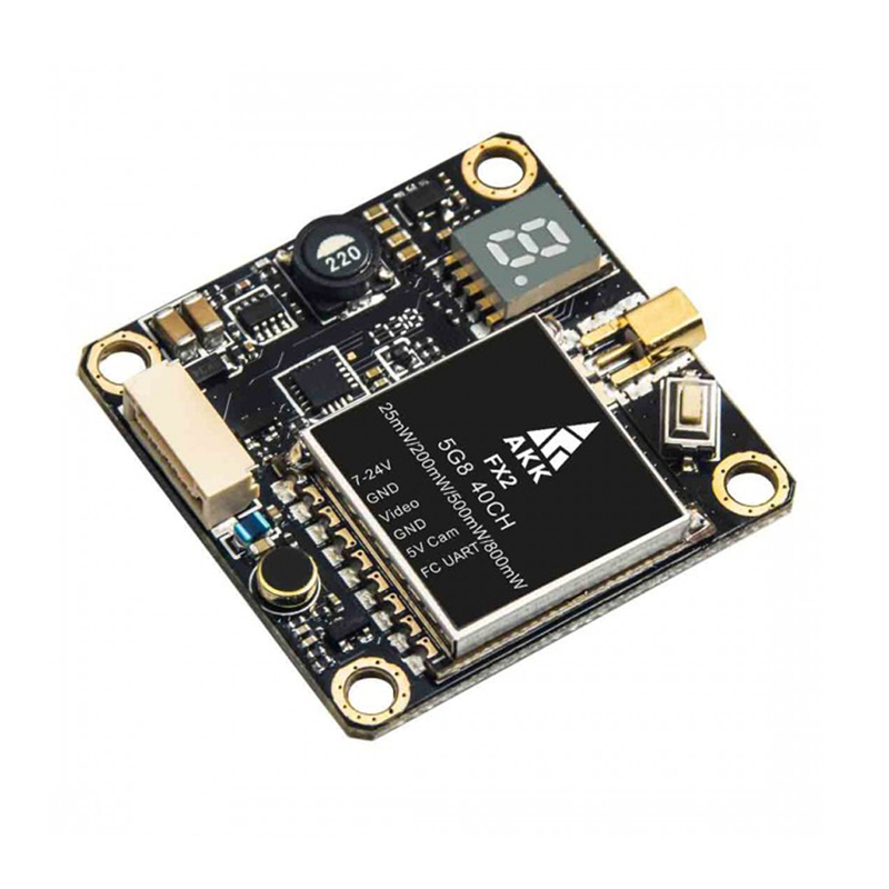AKK FX2 5.8Ghz 40CH 25mW/200mW/500mW/800mW Switchable FPV Transmitter Support OSD for RC Models Drone Part AccsAKK FX2 5.8Ghz 40CH 25mW/200mW/500mW/800mW Switchable FPV Transmitter Support OSD for RC Models Drone Part Accs
