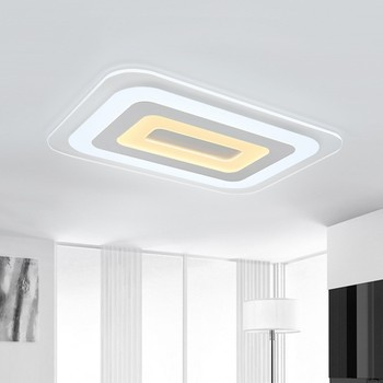 Ultra Tipis LED Modern Lampu Langit-langit untuk Ruang Makan Perlengkapan Square Indoor Rumah Lampu Lampu dengan Remote Dimmable Luminaria
