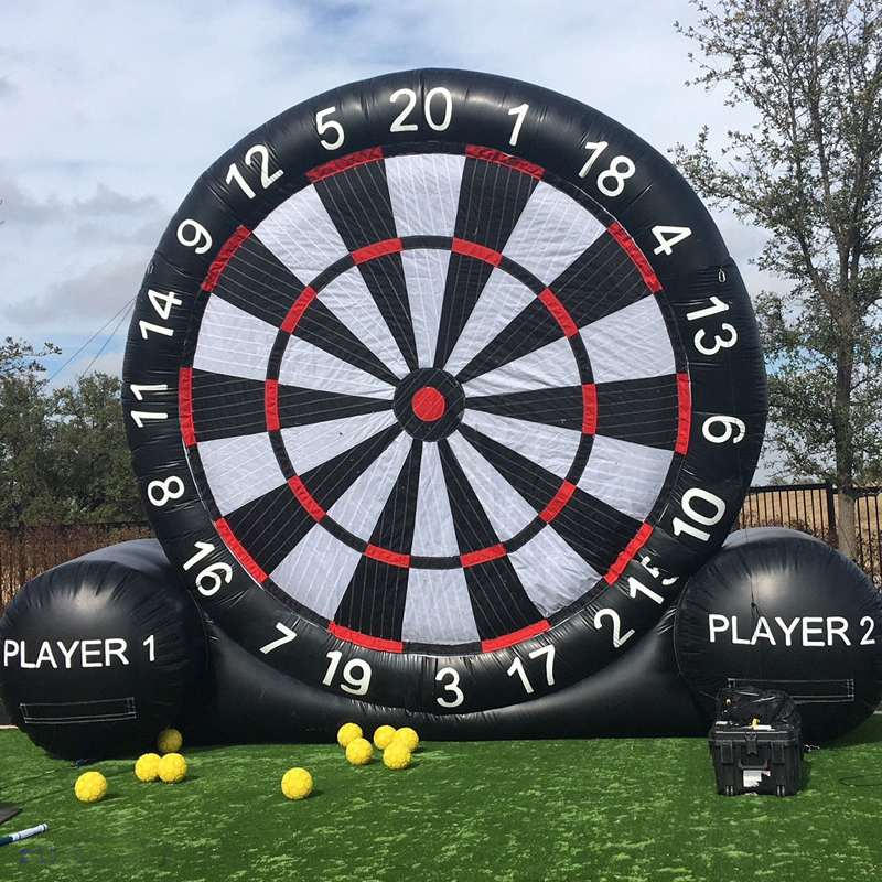 4 Meter Huge High Inflatable Dart Board Soccer Game Inflatable Football Dart Board With 220V Air Blower Outdoor Sports Toys New