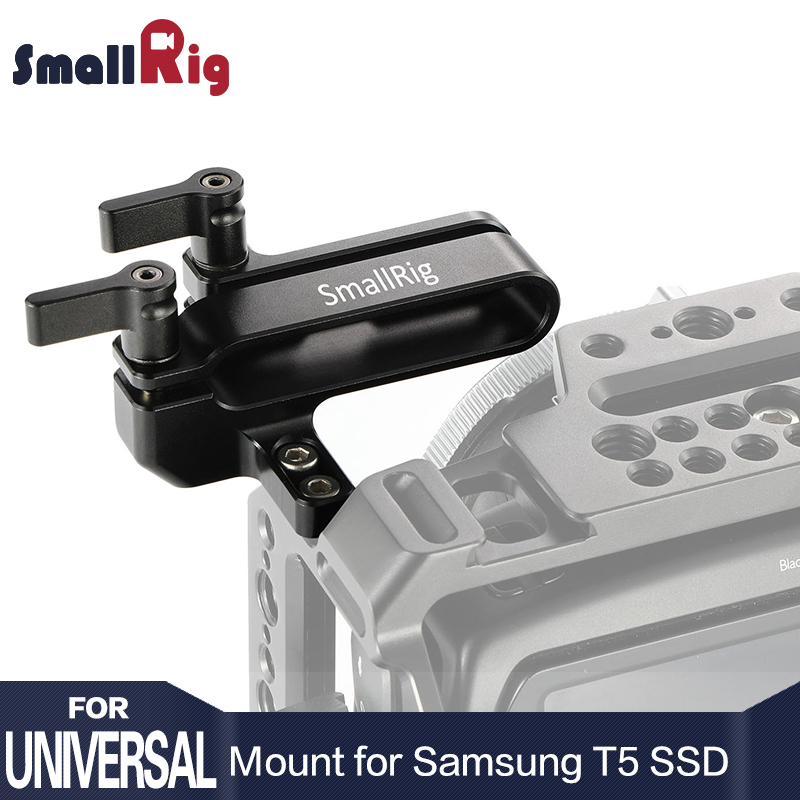 SmallRig Camera Rig Mount for Samsung T5 SSD for Blackmagic Design Pocket Cinema Camera 4K SmallRig cage  2245 samsung