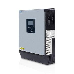 Image 5 - 3000VA 2400W טהור סינוס גל היברידי שמש מהפך 24VDC קלט 220VAC לבנות פלט 50A PWM מטען סולארי בקר & AC מטען