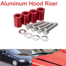 Car Engine Hood Vent Spacer Kits Red For 8mm Turbo All Motor Swap M8-1.25 X 45