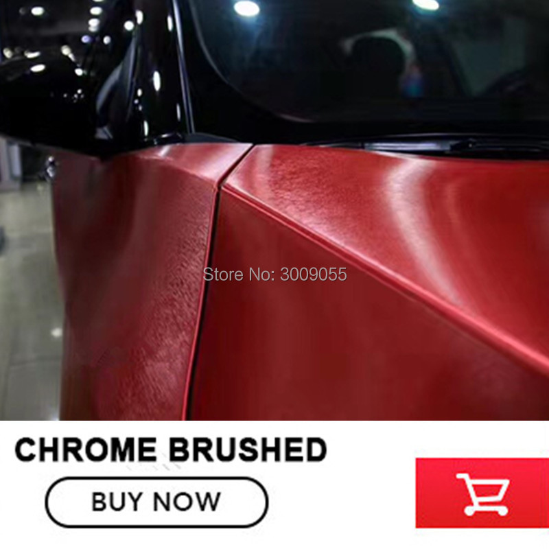 red Matte Chrome Brushed red Vinyl Wrap Film Bubble Free For Car Wrapping chrome Brushed Car Sticker-in Car Stickers from Automobiles & Motorcycles    3