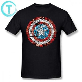 Hombre Escudo Algodón Cómic Linda De Streetwear América 100 Capitán Camiseta 6xl Estampado Manga Corta Para Con qSULMVpjzG
