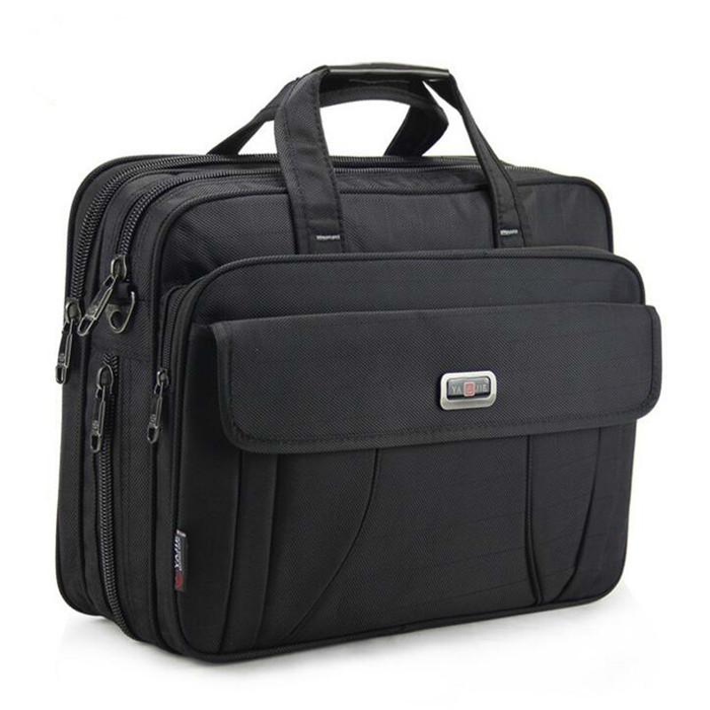 Business Briefcase Handbags Laptop-Bag Maleta Classic Travel Large 15inch Waterproof